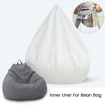 Only Inner Case Cvoer Waterproof  Lazy BeanBag Sofas Cover Inner Lining Suitable for Bean Bag Cover Stuffed Animal Toy