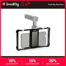 SmallRig Universal Mobile Phone Vlogging Cage Video Shooting Phone Cage Accessories With Cold Shoe Mount  2391