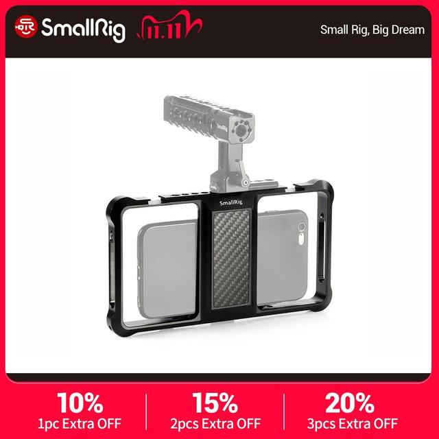 Smallrig Universele Mobiele Telefoon Vlogging Kooi Video Schieten Telefoon Kooi Accessoires Met Koud Shoe Mount  2391