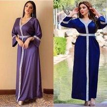 Caftan Марокканская Дубай abaya мусульманское платье хиджаб