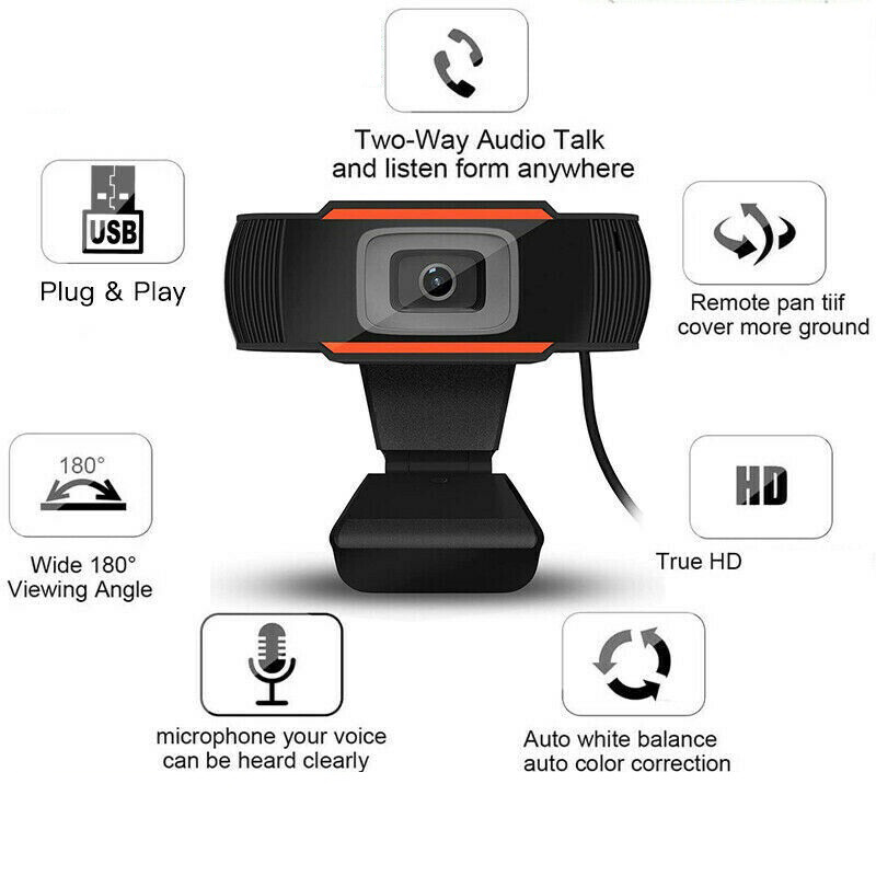 480p/1080P HD Webcam Camera With Microphone For Laptop Desktop Computer USB 2.0 3.0 Plug Convert For Windows 2000/XP/win7/win8
