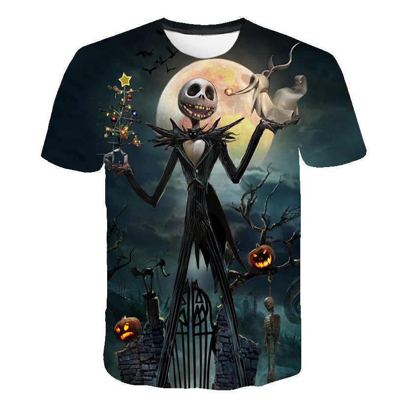 Schreckliche Cartoon Animation Hemd T 3D Druck T-shirt Große Größe Männer und Frauen Fitness Kleidung Männer Shirt Spaß Casual T-shirt