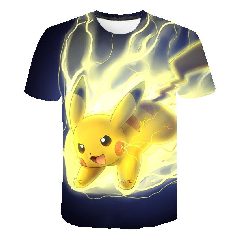 New Pokemon 3D Print T Shirt Anime Pikachu T-shirt Boys/girls Summer Hip Hop Casual Baby Boys Tshirt Short Sleeve Clothes KPOP
