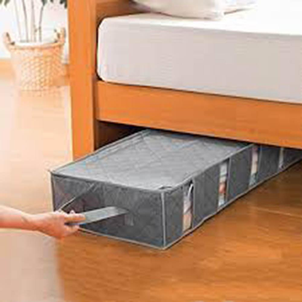 1 PC Underbed Clothes Storage Bags Ziped Organizer Boxes for Pillows Bedding Toy