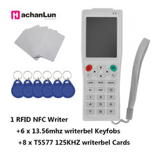 Mais novo iCopy8 com Função de Decodificação Completa Máquina de Chave de Cartão Inteligente RFID Copie/Leitor/Escritor Duplicador