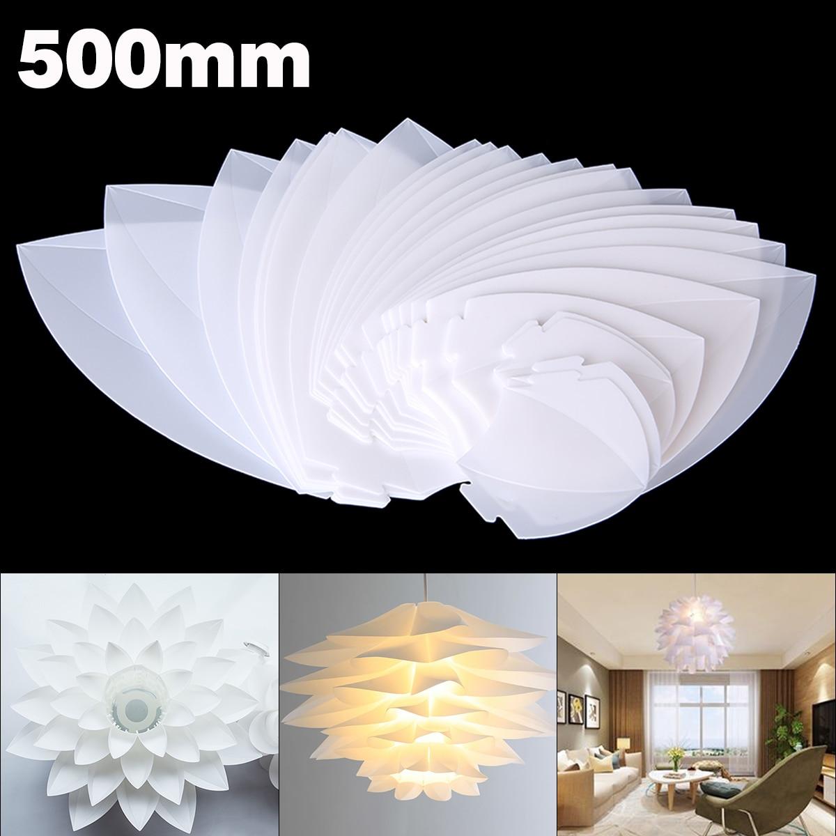 50cm DIY Lotus Pendant Lampshade E27 Chandelier Light Cafe Bar Ceiling Room Decoration LED Hanging Lamp