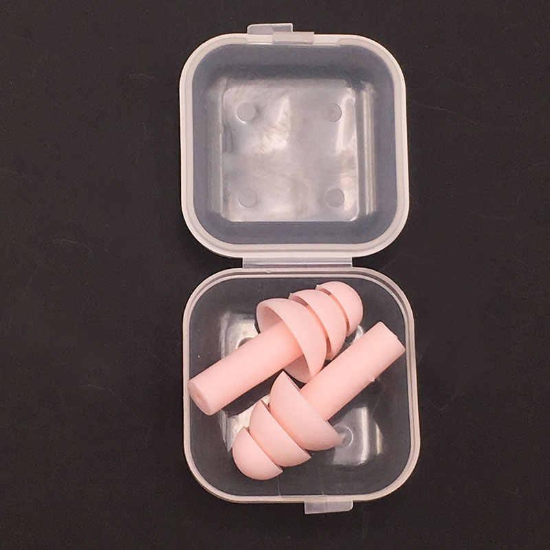 Bouchons d'oreille en Silicone souple isolation phonique bouchons d'oreilles Anti-bruit ronflement bouchons de couchage pour la réduction du bruit de voyage
