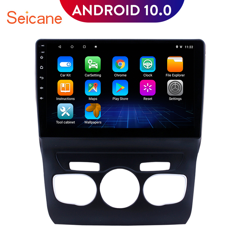 Seicane Android 9.0 10.1 inch GPS Navigation Car Auto Radio Player for 2013 2014 2015 <font><b>2016</b></font> <font><b>Citroen</b></font> <font><b>C4</b></font> with RDS WIFI USB image