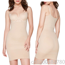 Women One Piece Seamless Medium Control Carry Hips Slips Slim Bottoming Shapewear Shapers Dress ruched detail shapewear slips