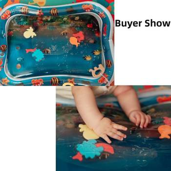 Summer inflatable water mat for babies Safety Cushion Ice Mat Early Education Baby Toys Play 2