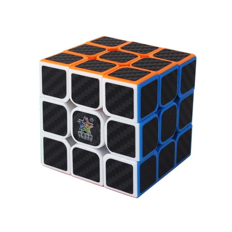 YUXIN ZHISHENG 55mm Professtional Carbon Fiber 3x3x3 Magic Cube Speed Puzzle 3x3 Cube Educational Toys Gifts Magico Cubo