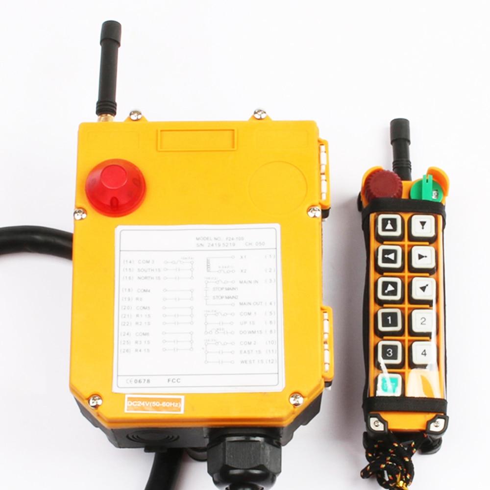 F24 10D 12V 24V 110V 220V 380V industriel sans fil Radio télécommande commutateur pour grue 10 fonction avec urgence - 2