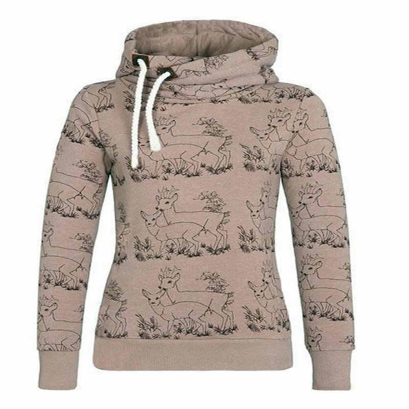 Nowe zimowe bluzy bluzy odzież damska modna stójka bluza z kapturem i aksamitu wyściełana bluza z kapturem Kawaii PL09