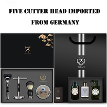 2021 New Shaving Men Manual Razor Geely Five-Layer Blade Old-Fashioned German Men's Gift Box Packaging For Birthday 、Valentine