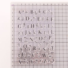 Clear Stamps English Letter Silicone Transparent Seal Uppercase Lowercase Letter Stamp DIY Scrapbooking Phote Album Diary Craft handbook diary seal diy transparent seal color seal handbook album diary diy accessorieshandbook diary