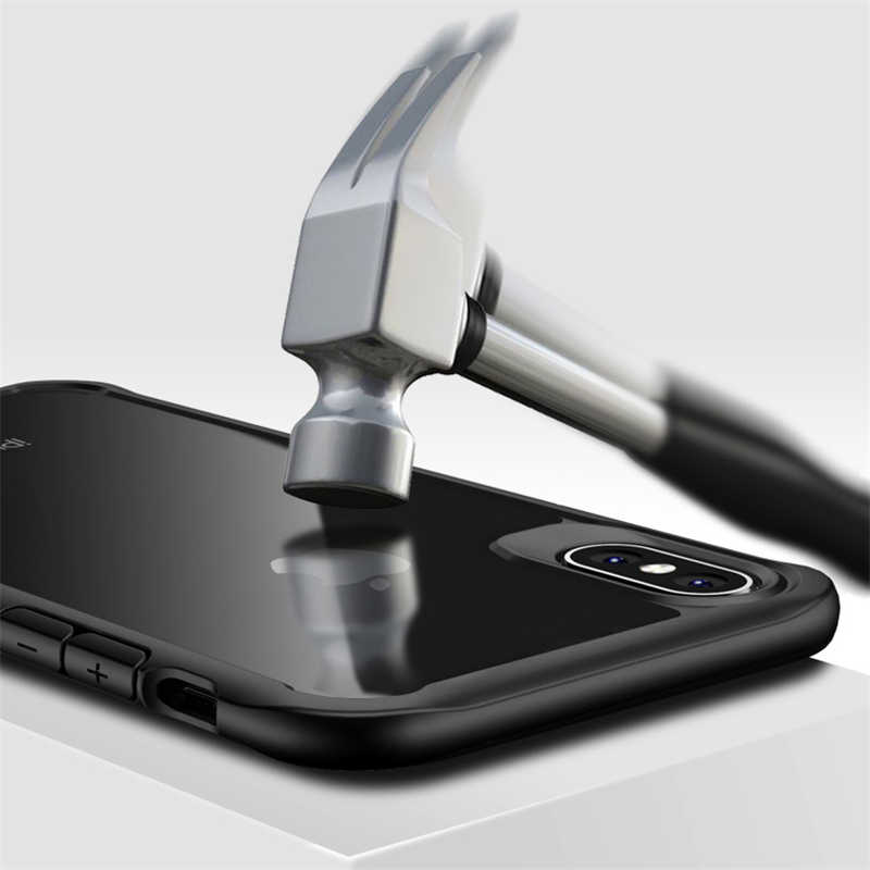 Ударопрочный прозрачный i Телефон чехол для iPhone 7 8 6 S 6 S Plus X R XR XS MAX 4 5 4s 5s SE 11 Pro Акриловые Роскошные Силиконовые чехлы Fundas