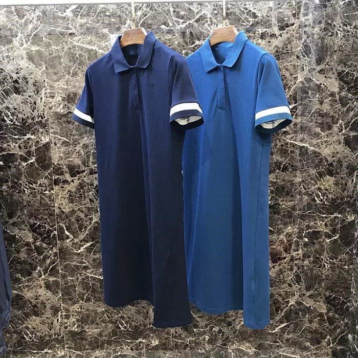 Back Pleated Polo Dress Item Number 11009G