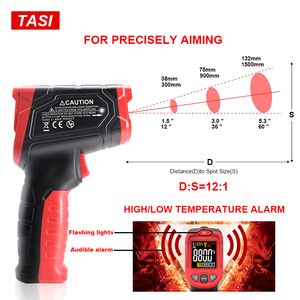 Image 3 - TASI 880 מעלות צלזיוס צבעוני תצוגה גבוהה טמפרטורת אינפרא אדום לייזר מדחום