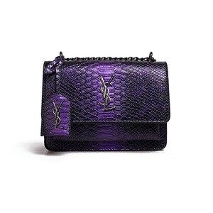 Импортные товары сумка женская Европейская и американская новая Ян шулин Змеиный узор маленькая квадратная сумка ins super fire star с тем же