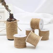 Naturalne juta juta juta sznurek liny konopne ciąg ślub pakowanie prezentów struny DIY Scrapbooking kwiaciarnie rzemiosło artystyczne