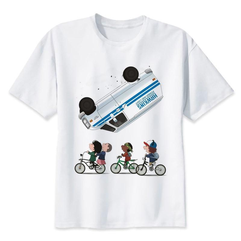 BTFCL Stranger Things T Shirt Anime Tshirt women Summer Cool Tees Unisex Loose Plus Size Tshirt poleras mujer de moda 2019 in T Shirts from Women 39 s Clothing