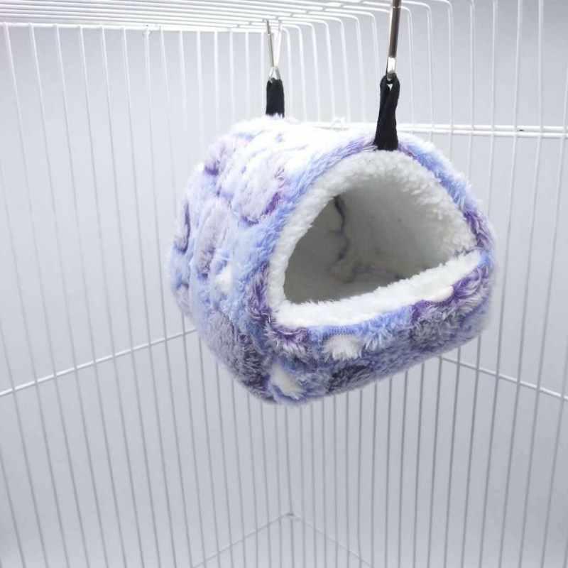 Piccolo Animale Domestico Cavia Criceto Letto di Casa Panno Morbido Nido Caldo di Inverno Scoiattolo Ratto Hedgehog Coniglio Cincillà Letto Casa Nido