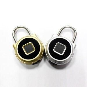 Image 5 - Smart Fingerprint Lock Vorhängeschloss Keyless Tragbare USB Aufladbare Anti Diebstahl Vorhängeschloss Elektronische Nicht passwort Finger Touch Lock