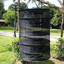 Cesta colgante plegable para hierbas, bolsa de malla de secado rápido, con 6/8 capas, estante organizador de flores y capullos de plantas