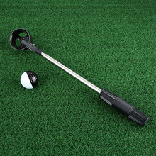 1Pc Golf Ball Throwing Pick Up Golf Training Tools Portable 2m Telescopic Stainless Steel Shaft Golf Club Pick Up Ball Retriever new retractable golf ball retriever scoop telescopic pick up grabber shaft tool