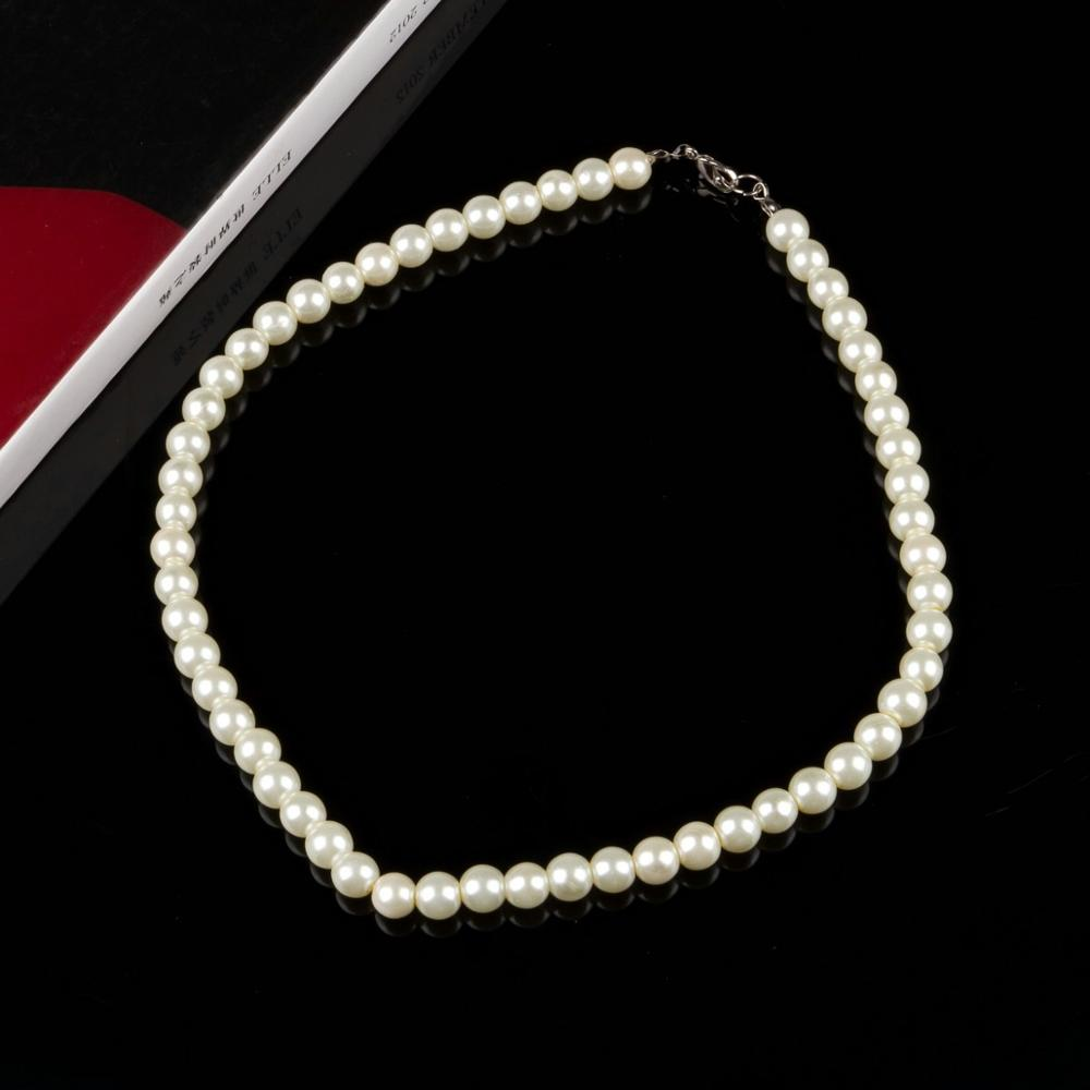 Pearl Necklaces For Women 8mm Simulated Pearl Chain Necklace Collier Femme Choker Wedding Bridal Jewelry Party Gifts