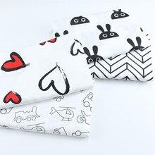 100% algodão tecido de coração, pano de retalhos costura estofando cama folha vestido quartos de gordura material bebê & criança