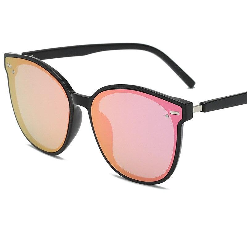 Солнцезащитные очки с заклепками UV400 для мужчин и женщин, классические брендовые дизайнерские солнечные аксессуары в круглой оправе, для во...