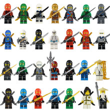 Мини-ниндзя с оружием, фигурки, строительные блоки, детские игрушки, подарок, совместимые с LegoINGLY Ninjagoed, развивающие игрушки для детей