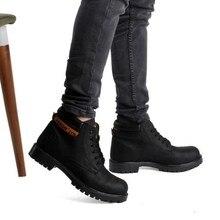 D'amore/мужские ботинки Нескользящая кожаная обувь популярная мужская Удобная весенне-осенняя мужская обувь зимние ботинки прочная подошва