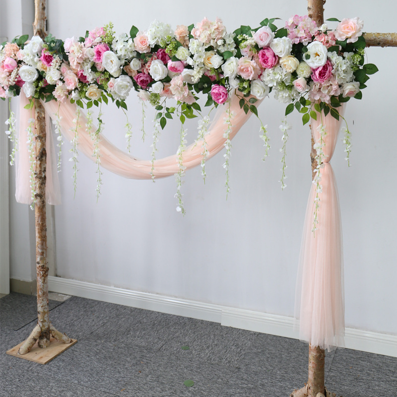 Wedding Road Lead Rose Flower Row Silk Wedding Stage Artificial Flower Home Decor Holiday Celebration Decoration Plants Wall Artificial Dried Flowers Aliexpress