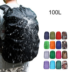 100L Backpack Rain Cover Waterproof Bag Dust Hiking Camping Bags Portable Large Military Army Big 90L 95L 110L Rain Cover xa41a
