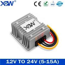 Преобразователь постоянного тока XWST с 12 В на 24 В, 5a, 8a, 10A, 12A, повышающий до 24 вольт регулятор напряжения питания для автомобиля, светодиодный, ...