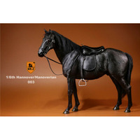 Mr.Z Animal Model Germany Hanoverian Horse Black Race Horses Accessories 1/6 Fit For 12 Soldier Action Figure Collection Toys