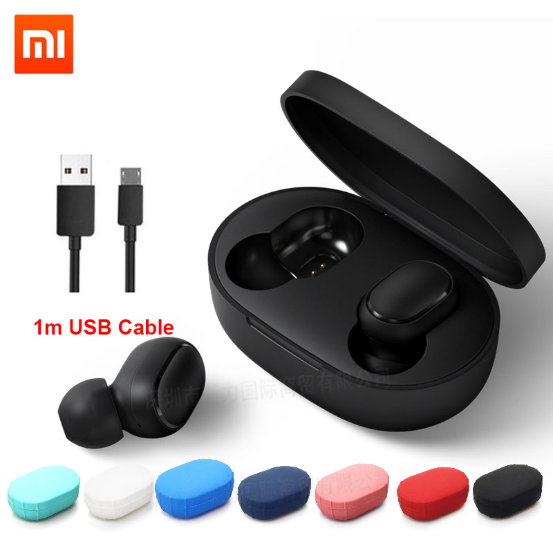 Xiaomi Redmi Airdots TWS Bluetooth Wireless Earphone Stereo Bass Airdots 5.0 Eeadphones With Mic Handsfree Earbuds AI Control