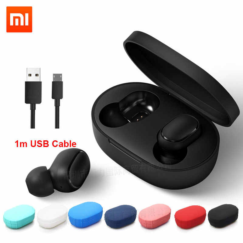 Xiaomi Redmi Airdots TWS inalámbrica Bluetooth auricular estéreo bajo Airdots 5,0 Eeadphones con micrófono de manos libres auriculares AI Control