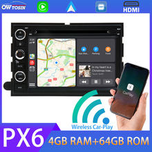 Android 10 Auto DVD-Multimedia-Player Für FORD Explorer 500 F150 Explorer Rand Expedition Mustang Freestyle PX6 4GB + 64GB TDA7850