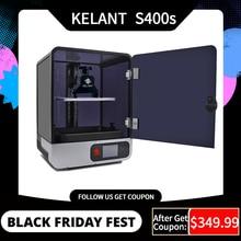 Kelant S400S LCD DLP 3D impresoras 8,9 pulgadas 2K láser 3d impresora fotón UV resina SLA luz cura 192*120*200MM impresora diy kit de S400s impressora 3d resina profesional inpresora