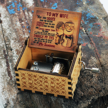 Music-Box Castle Wooden Love Casket-Decoration Hand-Crank Sunshine DAD MY You TO Are