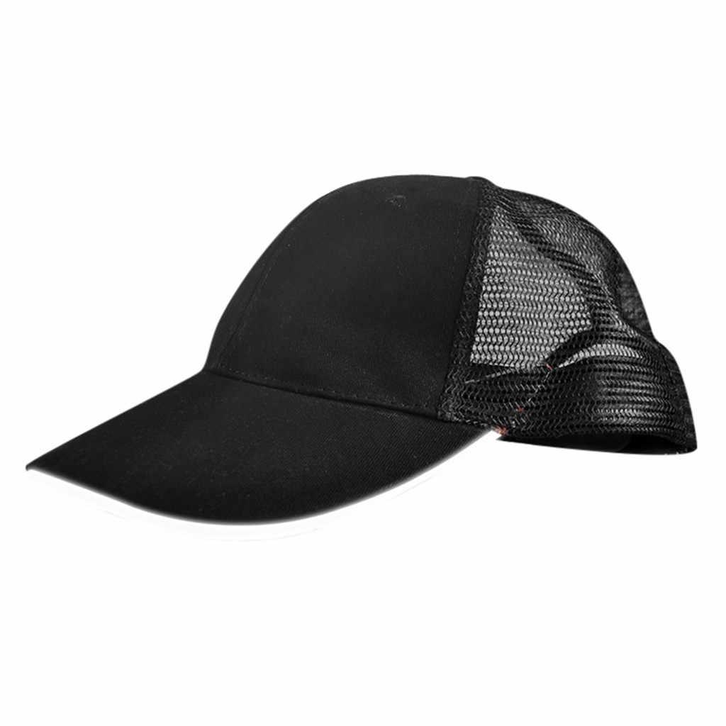 Led beyzbol şapkası 2019 ayarlanabilir işıklı Up şapka Glow hip-hop kap kulübü parti spor koşu beyzbol şapkası s Gorra Hombre
