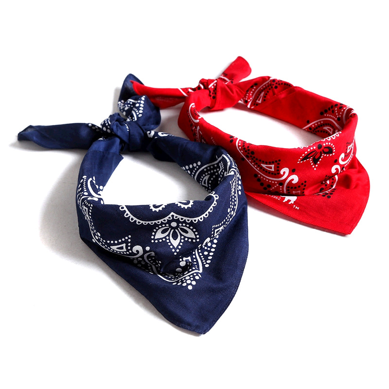 Scarf Hip Hop Hip Hop Kerchief Headscarf Manufacturers Customizable Kerchief Wholesale Cashew Printed Kerchief