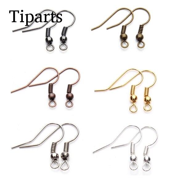 Застежки для сережек «сделай сам», металлические застежки-крючки для сережек, аксессуары для изготовления украшений, 100 шт./лот