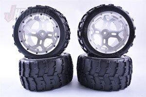 CNC обработка алюминиевого сплава колеса в сборе для 1/5 ROFUN ROVAN BM5 FG monster RC автомобиля 220*120 мм