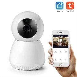 Wifi Ip Camera Smart Wireless Security Camera 1080P 2MP Tuya Smart Life App Two Way Audio Motion Detector Night Vision EU Plug