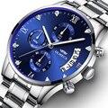 OLMECA модные часы для мужчин  водонепроницаемые повседневные кварцевые часы  деловые наручные часы из нержавеющей стали  Брендовые мужские ч...