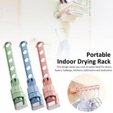 Portable Clothes Hanger Storage Rack Plastic Hangers Indoor Laundry Drying Hook Stand Home Organizer
